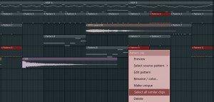 select similar clips fl studio